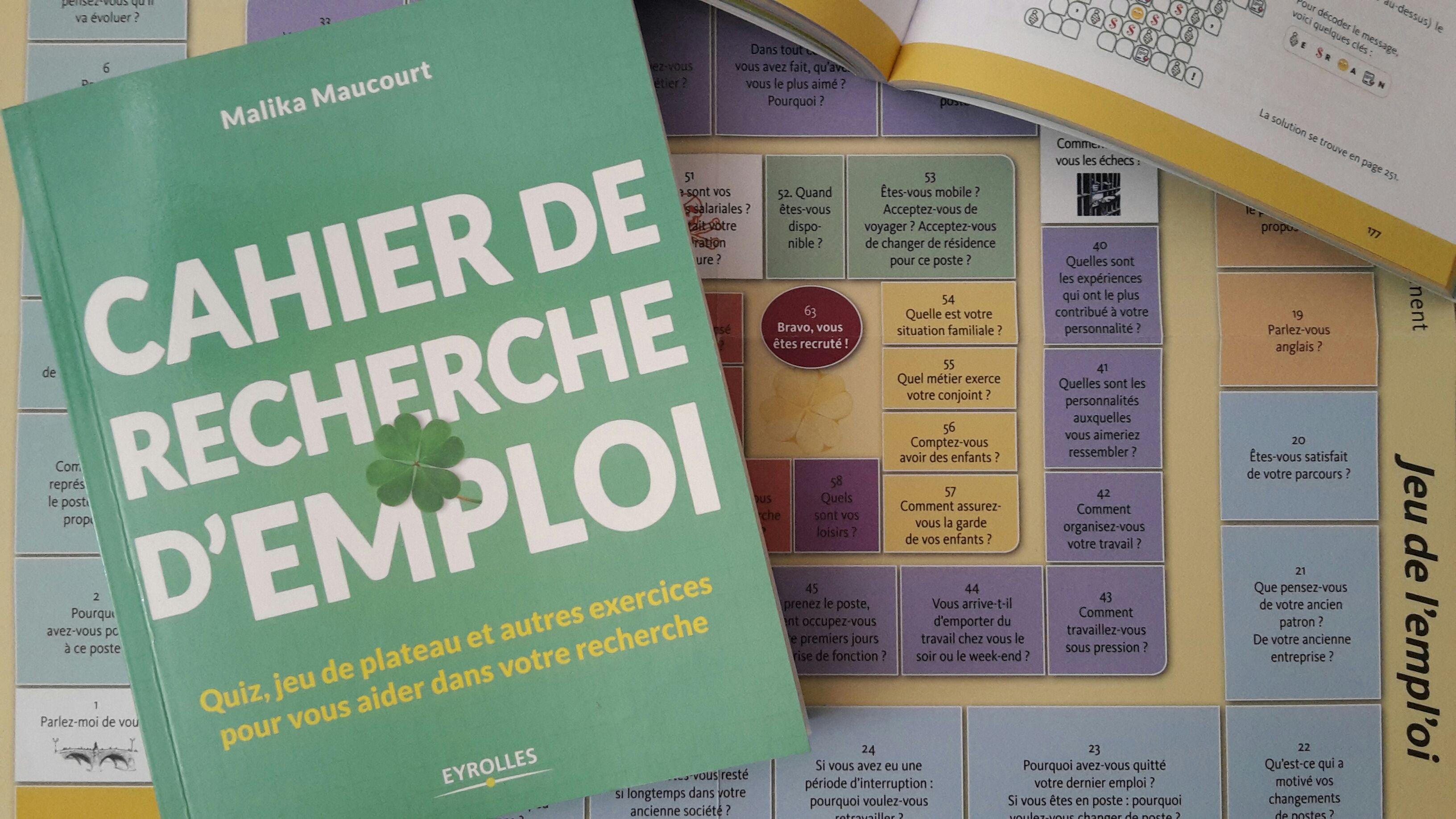 Cahier de recherche d'emploi de Malika Maucourt