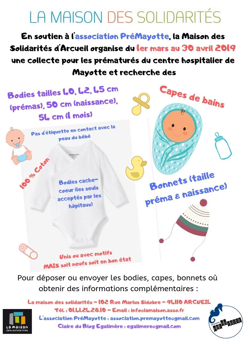 Collecte de bodies pour PréMayotte